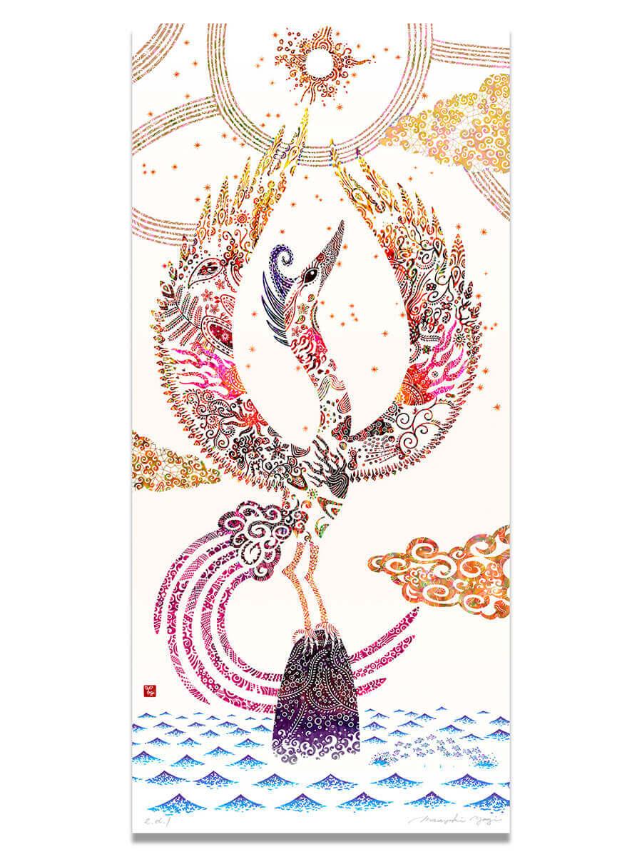 風水四神の図[朱雀]/ Feng shui [Suzaku (Fire Bird)]