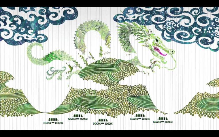 〈テレビ〉NHK沖縄 「うちなーであそぼ」 うちなー昔話第三話『ムカデと鶏と龍』