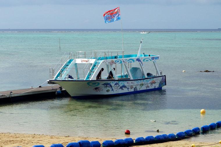 〈船体〉タイガービーチリゾートクラブ『キープブルー号』船体イラスト(2014.4)
