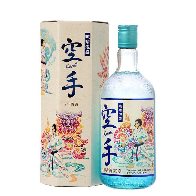 〈パッケージ〉久米島の久米仙「空手」7年古酒(2017.10.25-)