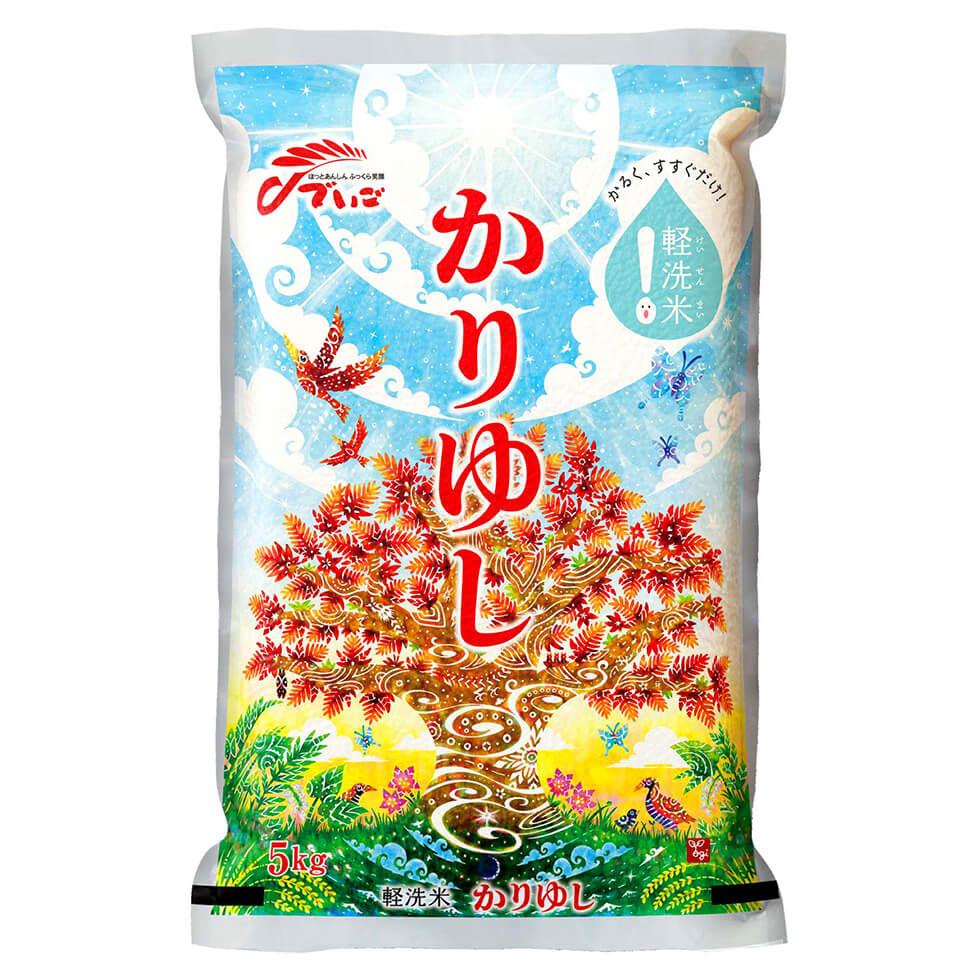 〈パッケージ〉沖縄食糧『軽洗米 かりゆし』
